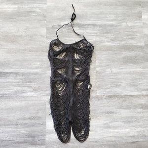 Dresses & Skirts - Black Burlesque Great Gatsby Flapper Mini